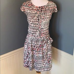 Guess Black White & Red Career Dress Size 8